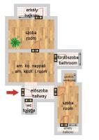 Kisfaludy utca 42.9MFt - 46 m2eladó Bauhaus lakás ingatlanBudapest 8. kerület