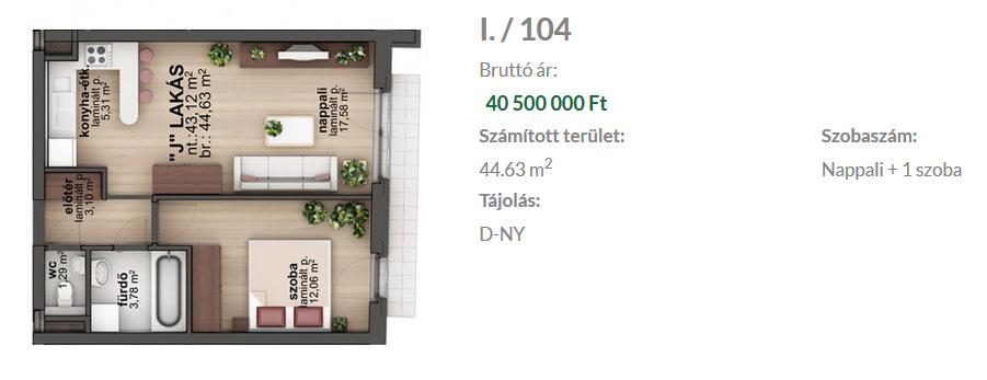 Bíró Lajos utca 40,500,000 Ft - 45 m2Eladó lakás Budapest