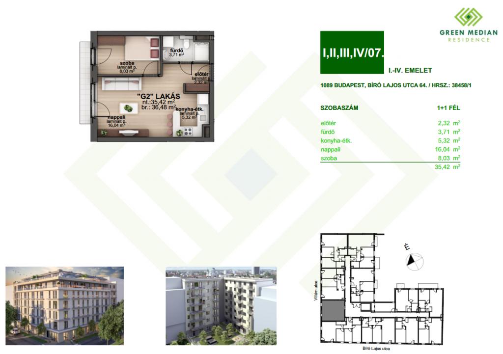 Bíró Lajos utca 39,600,000 Ft - 36 m2Eladó lakás Budapest