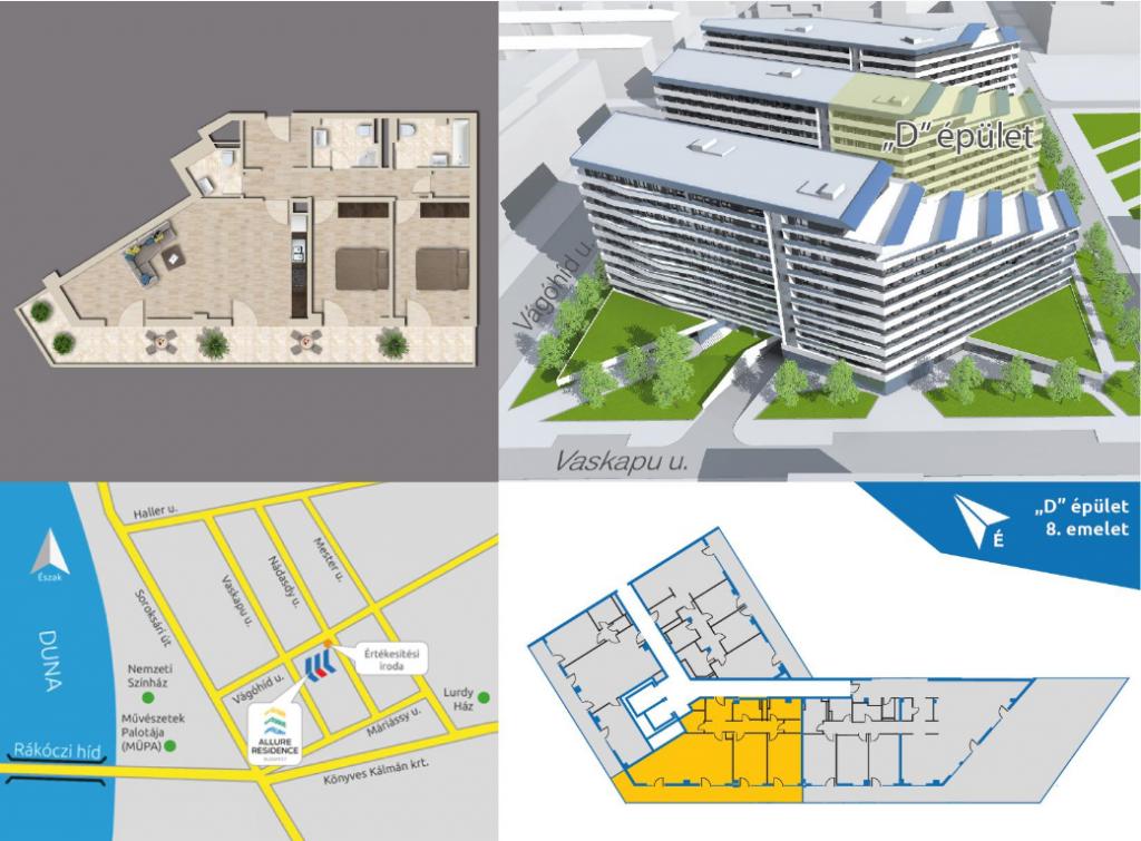 Vágóhíd utca 78.5MFt - 87 m2eladó Új építésű lakás Budapest 9. kerület