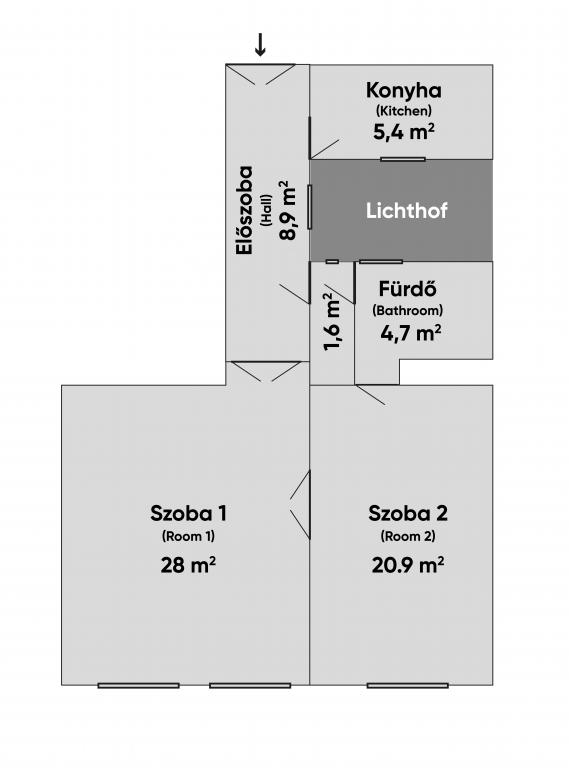 Lovag utca 42.5MFt - 64 m2eladó Polgári lakás Budapest 6. kerület